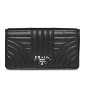 Prada quilted crossbody wallet on chain